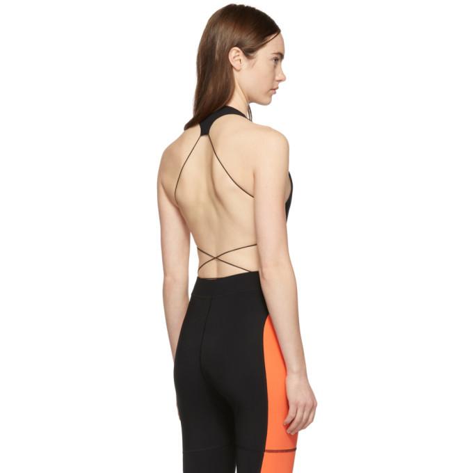alexanderwang.t Black Criss Cross Strap Bodysuit