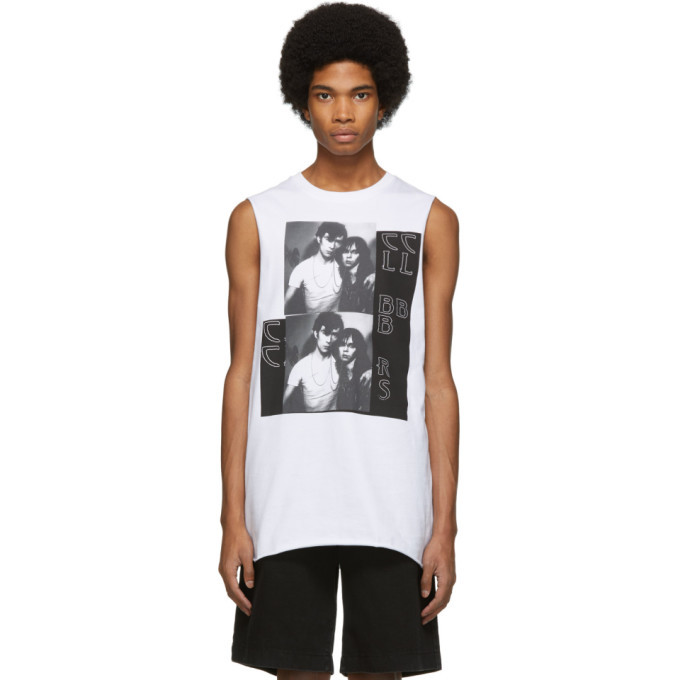 Photo: Raf Simons White Couple Sleeveless T-Shirt