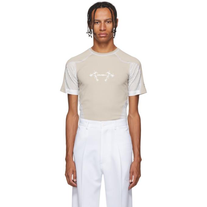 GmbH Beige and White Eevan T-Shirt