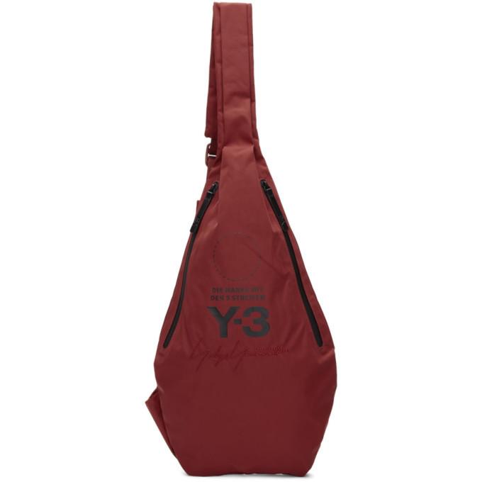 Y-3 Red Yohji MSGR Bag