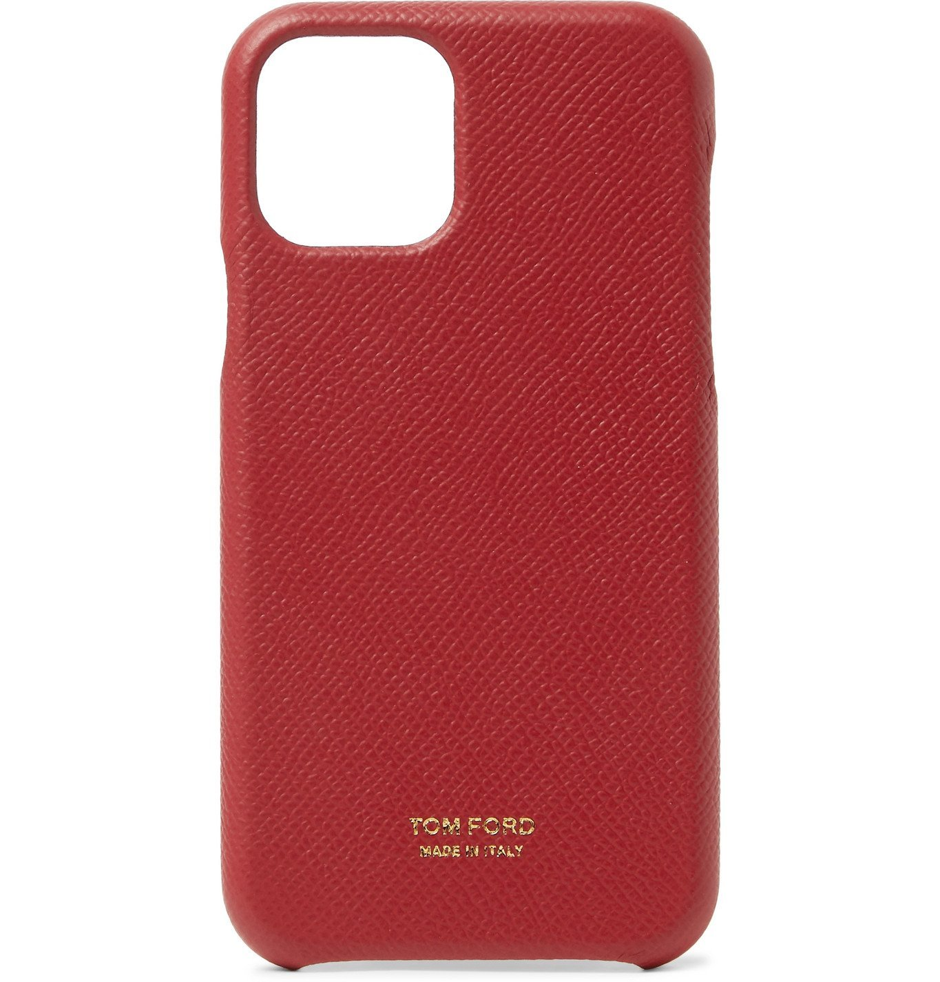 Photo: TOM FORD - Full-Grain Leather iPhone 11 Case - Burgundy