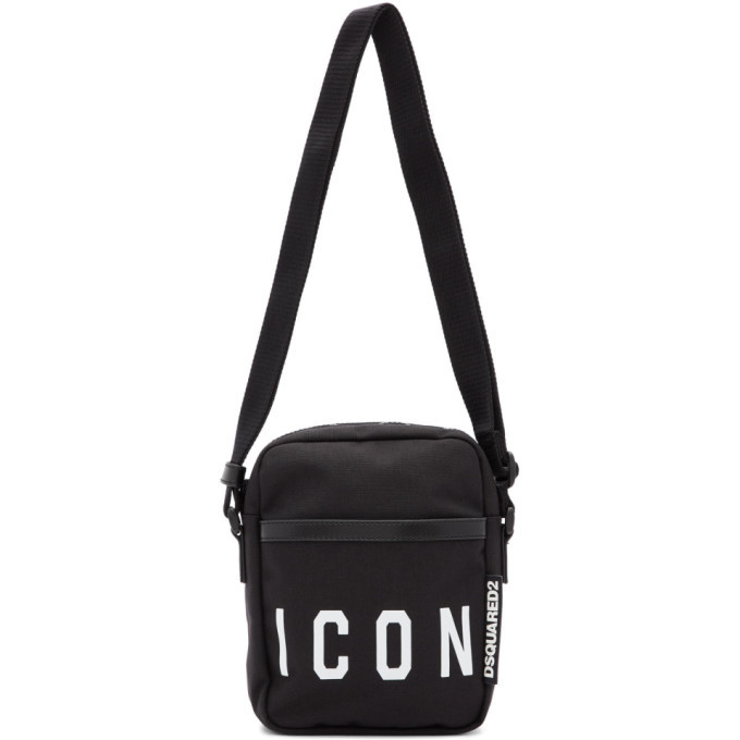 Photo: Dsquared2 Black and White Icon Crossbody Bag