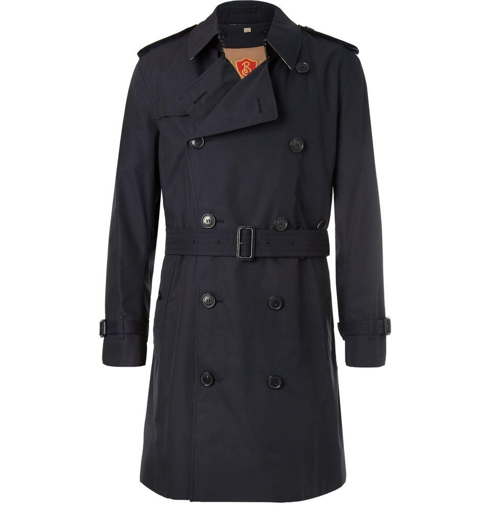 Photo: Burberry - Kensington Double-Breasted Cotton-Gabardine Trench Coat with Detachable Gilet - Men - Navy