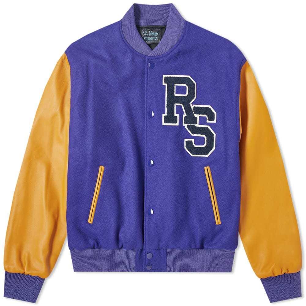 Raf Simons Leather Sleeve Varsity Jacket