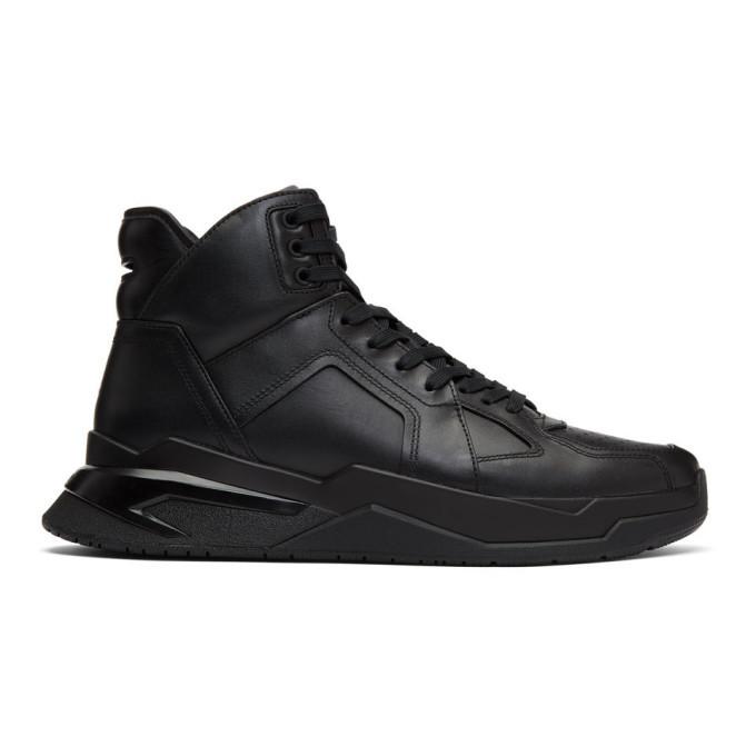 Photo: Balmain Black B Ball Sneakers