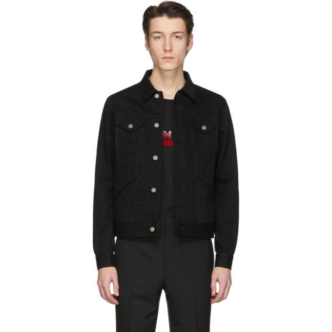 Photo: Givenchy Black Denim Logo Jacket