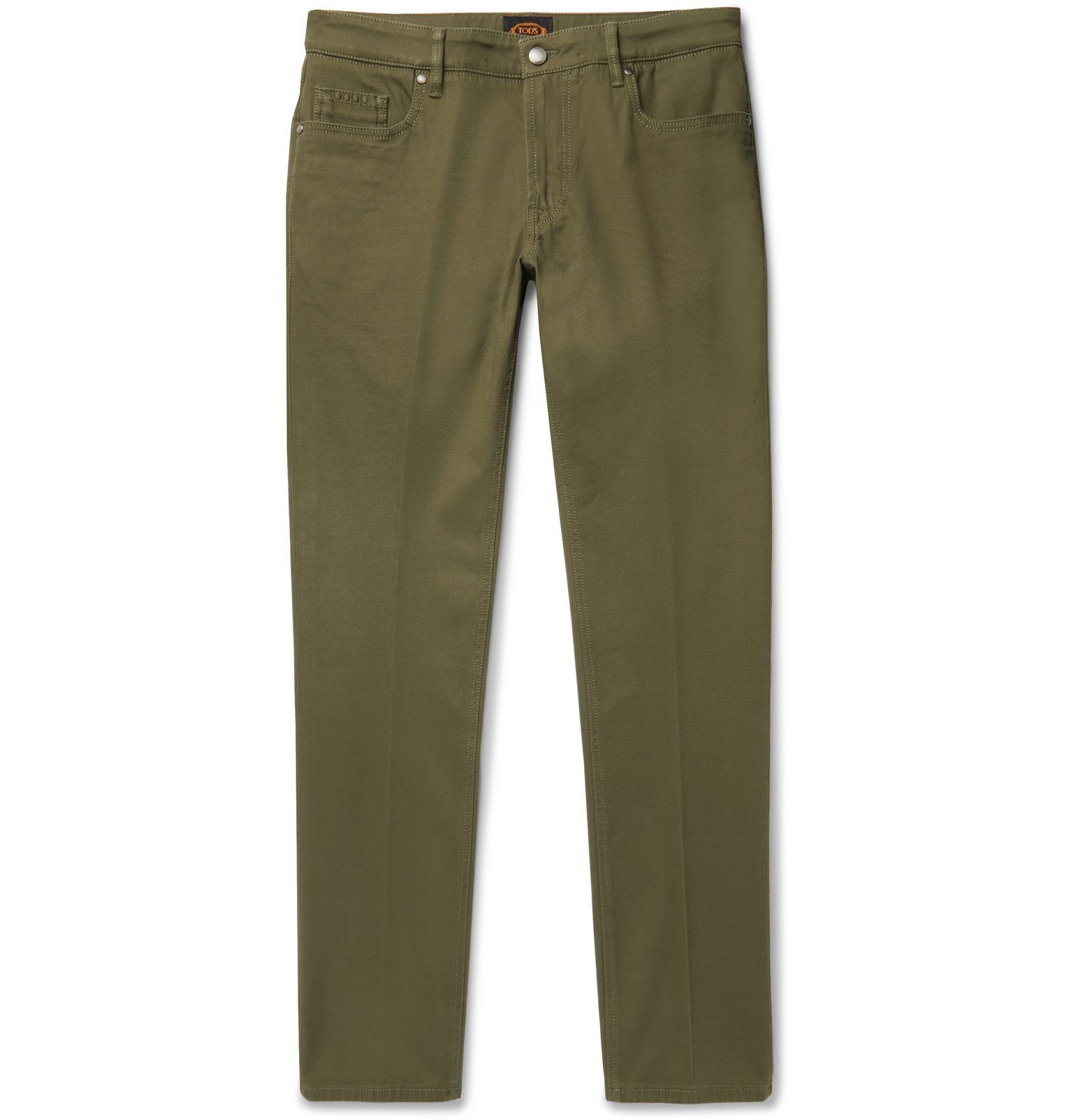 Photo: Tod's - Slim-Fit Stretch-Denim Jeans - Green