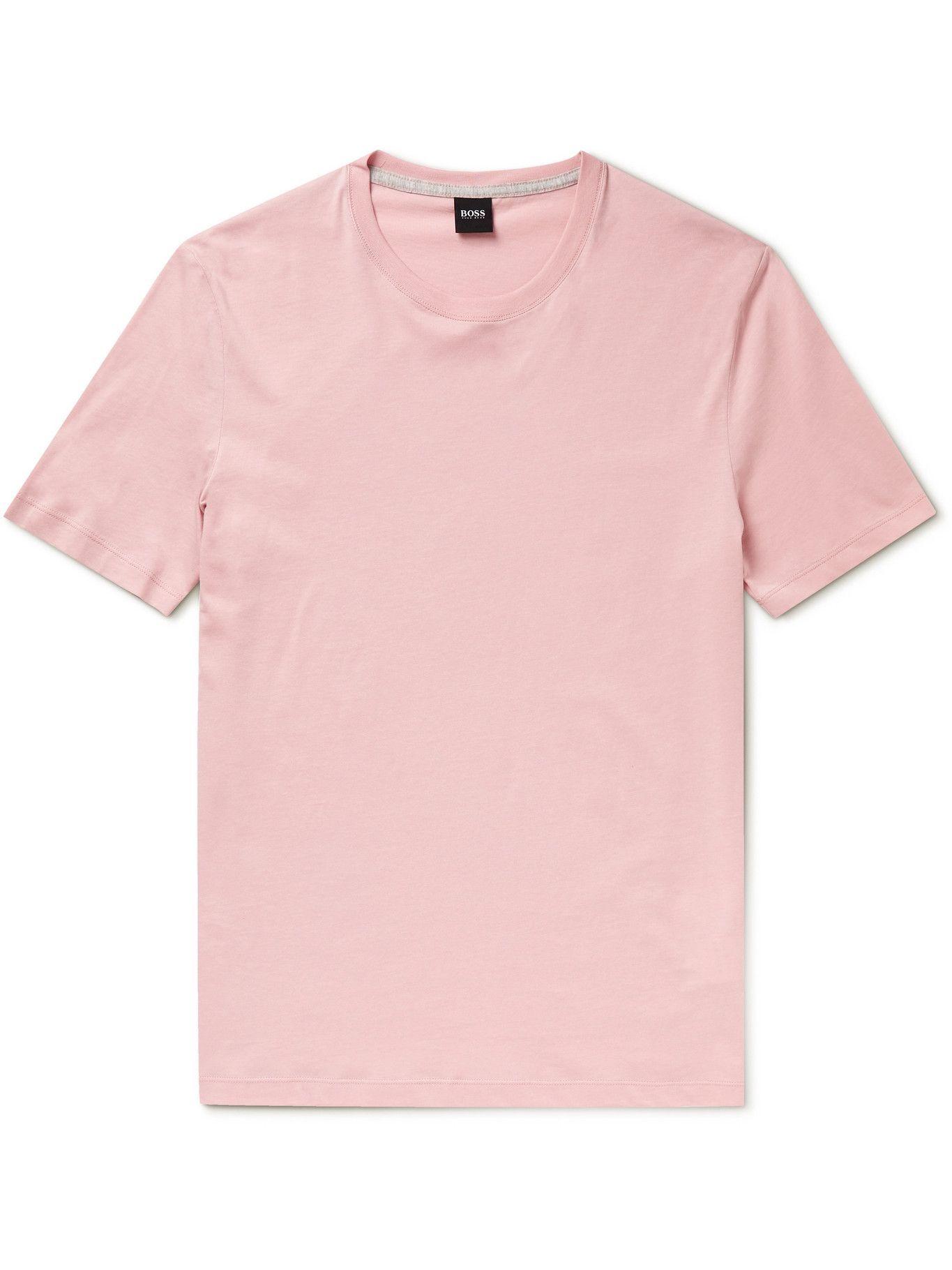 HUGO BOSS - Slim-Fit Cotton-Jersey T-Shirt - Pink
