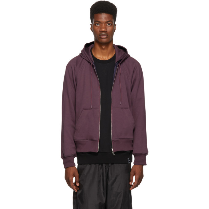 Photo: 3.1 Phillip Lim Reversible Purple Hoodie Jacket