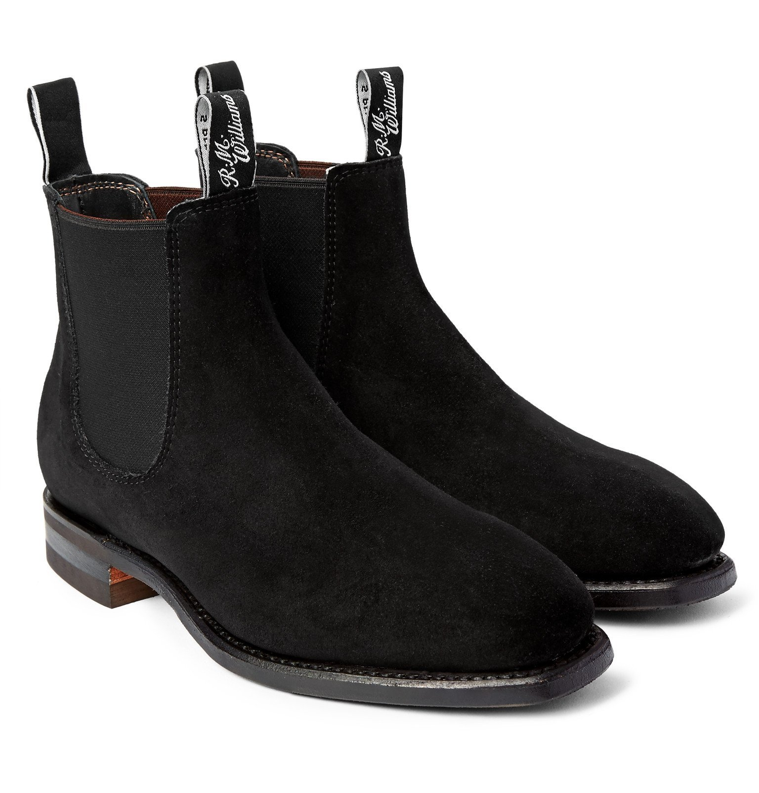 Photo: R.M.Williams - Comfort Craftsman Suede Chelsea Boots - Black