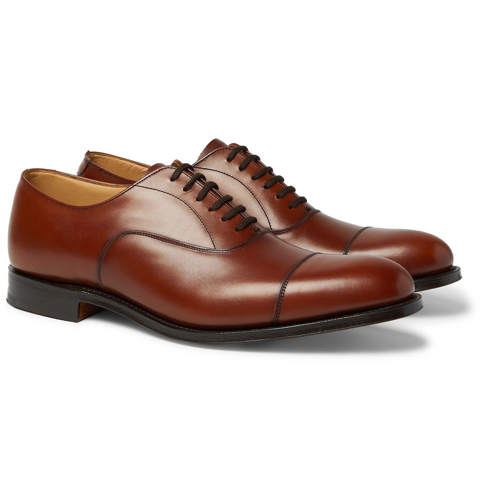Photo: Church's - Dubai Polished-Leather Oxford Shoes - Brown