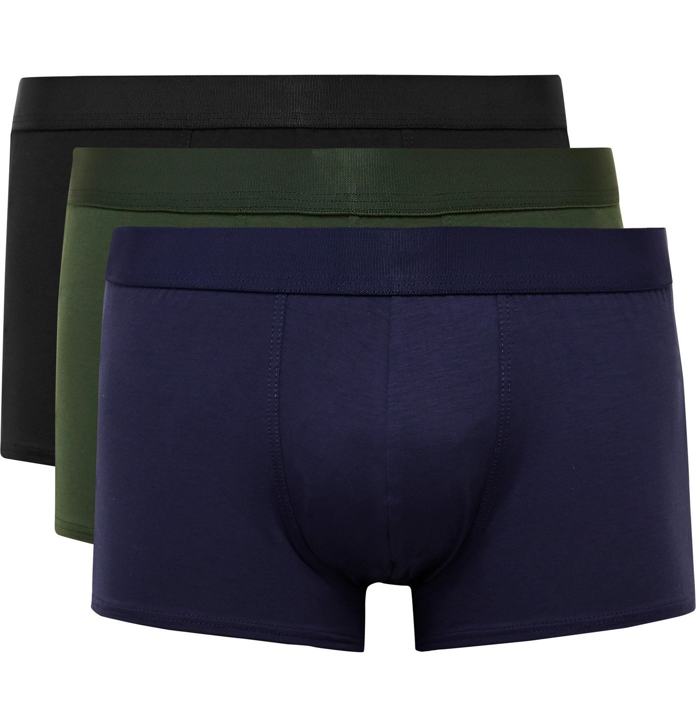 Photo: CDLP - Short Three-Pack Stretch-Lyocell Boxer Briefs - Multi