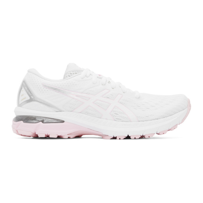 Photo: Asics White and Pink GT-2000 9 Sneakers