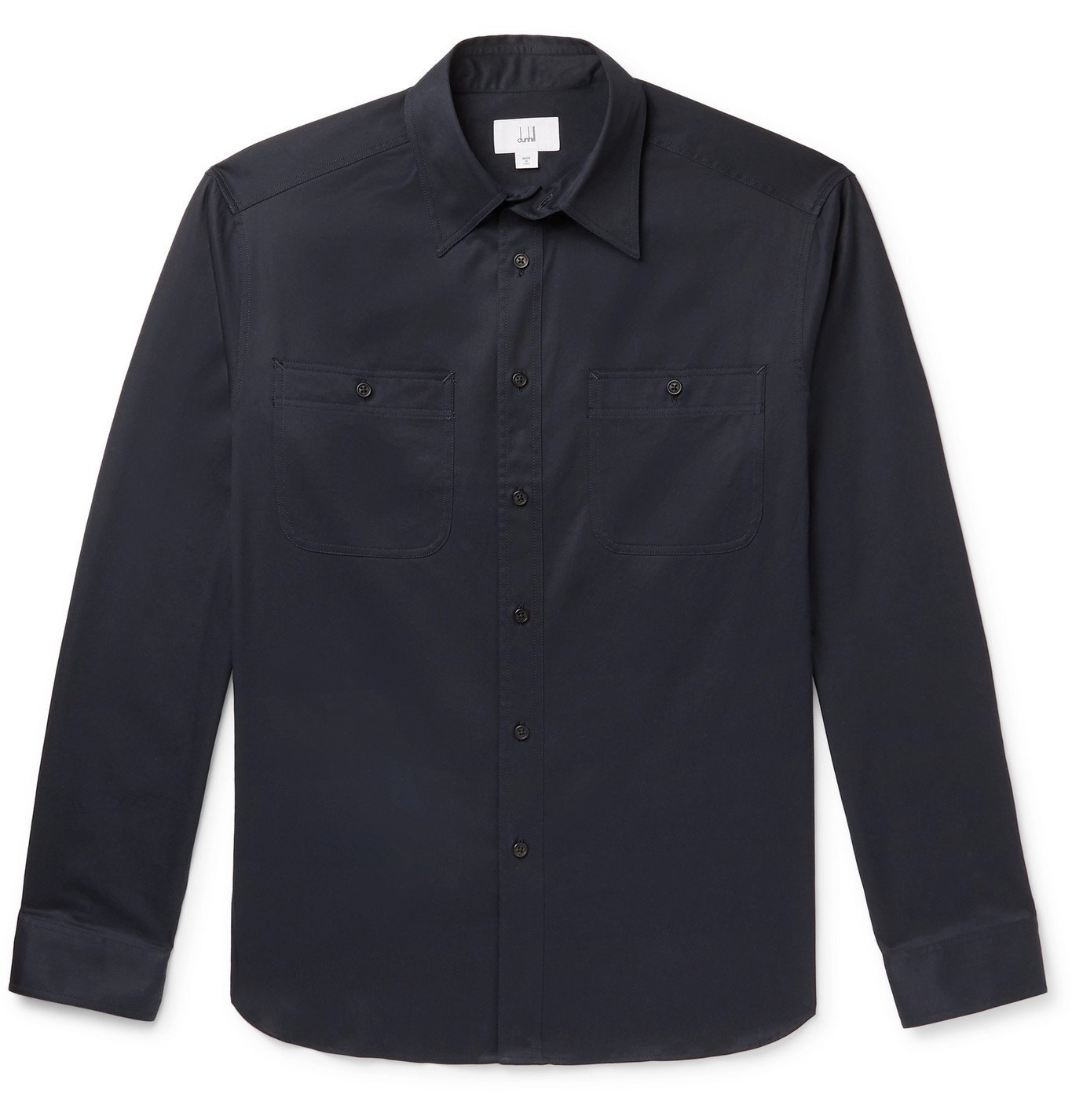 Photo: Dunhill - Cotton-Twill Shirt - Blue