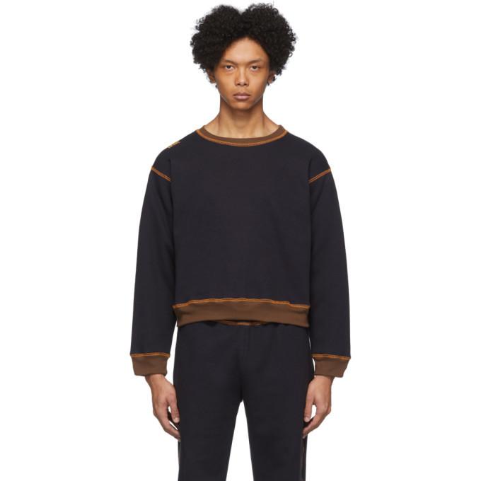 Photo: Phlemuns Black Contrast Stitch Sweatshirt