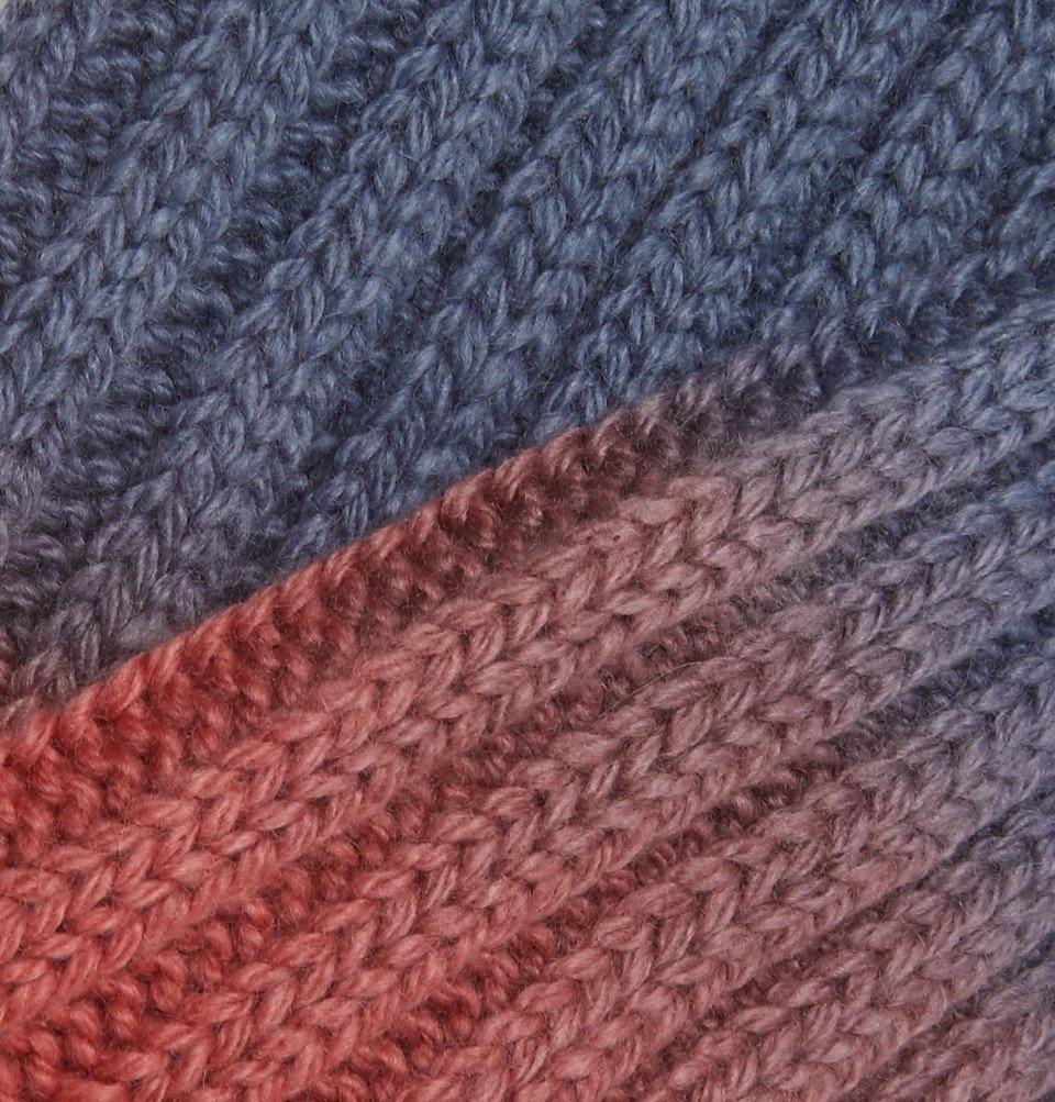 The Elder Statesman - Yosemite Dip-Dyed Cashmere Socks - Red