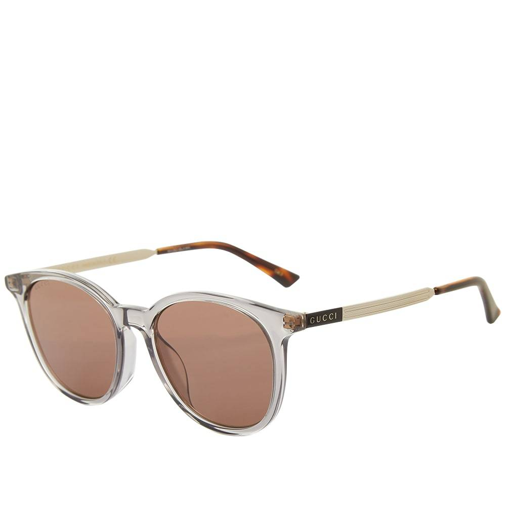 Photo: Gucci Round-Frame Acetate And Metal Sunglasses