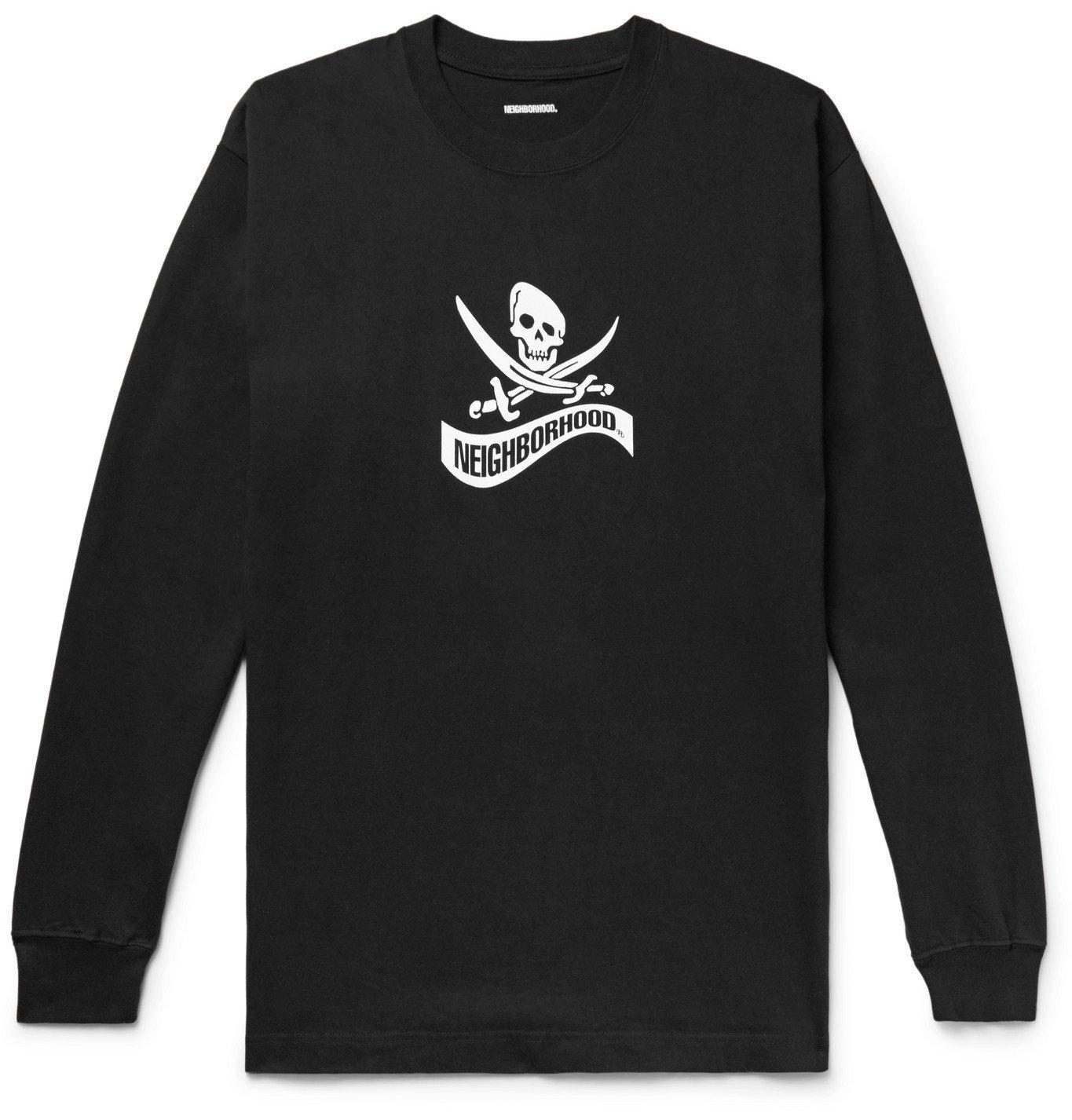 Photo: Neighborhood - Logo-Print Cotton-Jersey T-Shirt - Black
