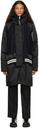 Sacai Black & Navy Nylon Coat