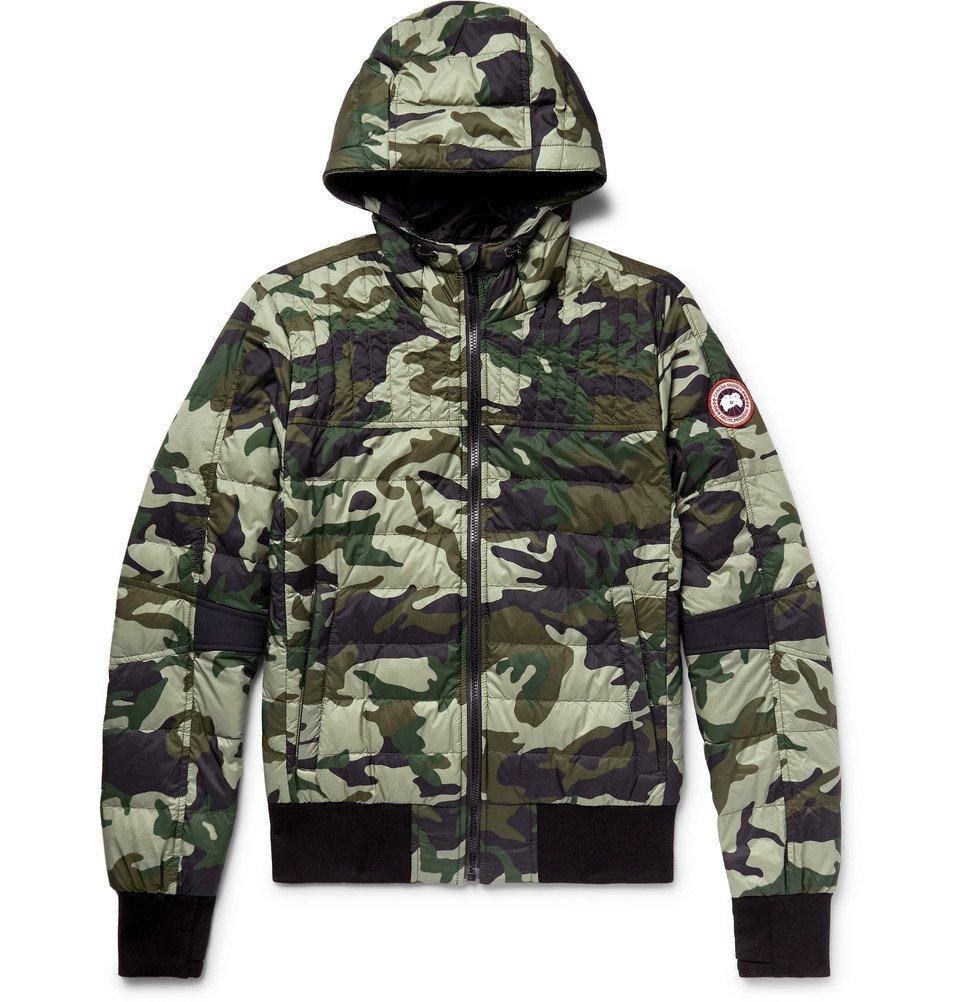 Photo: Canada Goose - Cabri Slim-Fit Camouflage-Print Quilted Nylon-Ripstop Hooded Down Jacket - Army green