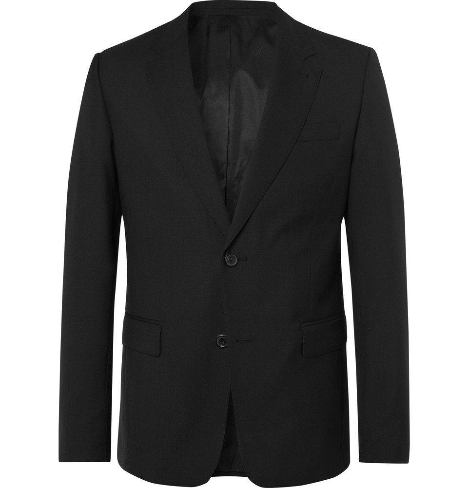 Photo: AMI - Black Slim-Fit Virgin Wool Suit Jacket - Black