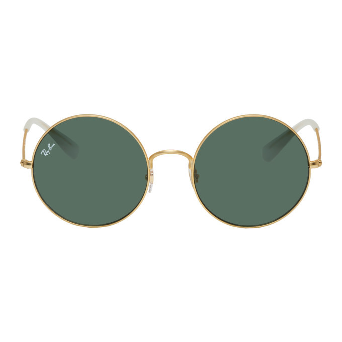 Photo: Ray-Ban Gold and Green Ja-Jo Sunglasses