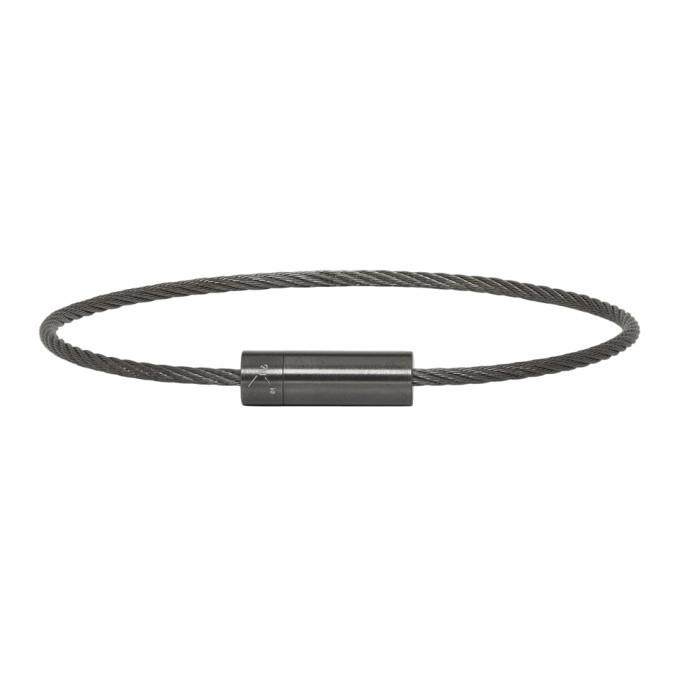 Photo: Le Gramme Black Brushed Le 7 Grammes Cable Bracelet