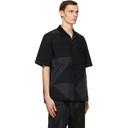 Sacai Black Hank Willis Thomas Edition Solid Mix Shirt