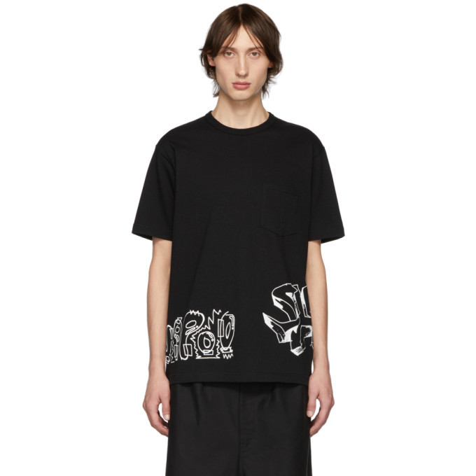 Photo: Comme des Garcons Homme Black Jersey Graphic T-Shirt
