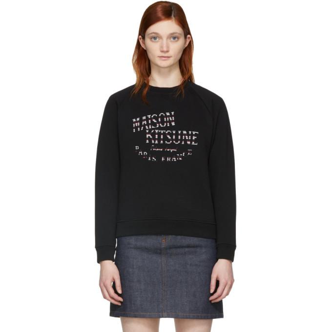 Photo: Maison Kitsune Black Palais Royale Sweatshirt