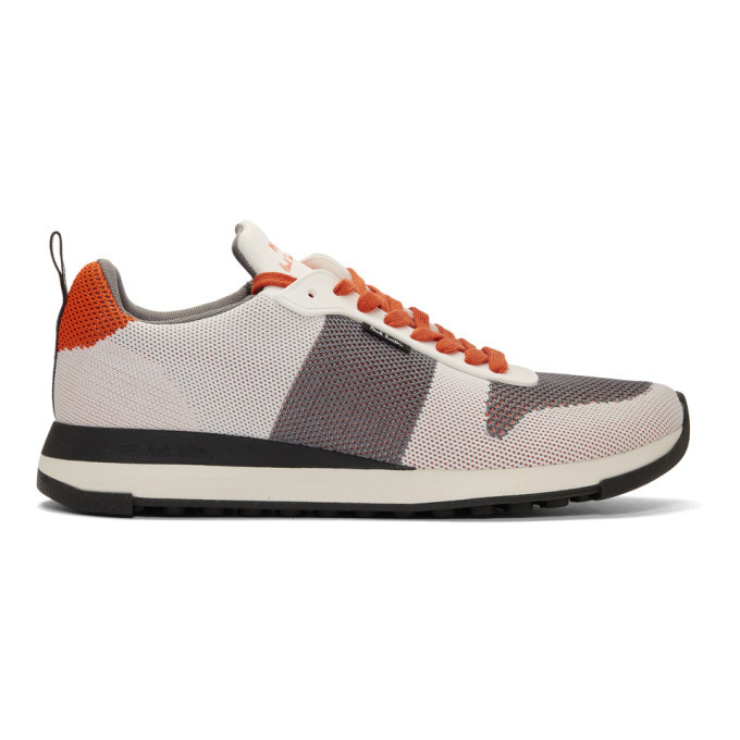 Photo: PS by Paul Smith White Recycled Knit Rappid Sneakers
