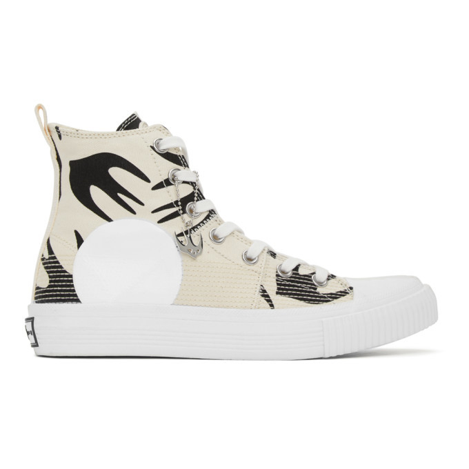 Photo: McQ Alexander McQueen Off-White Swallow Orbyt High-Top Sneakers