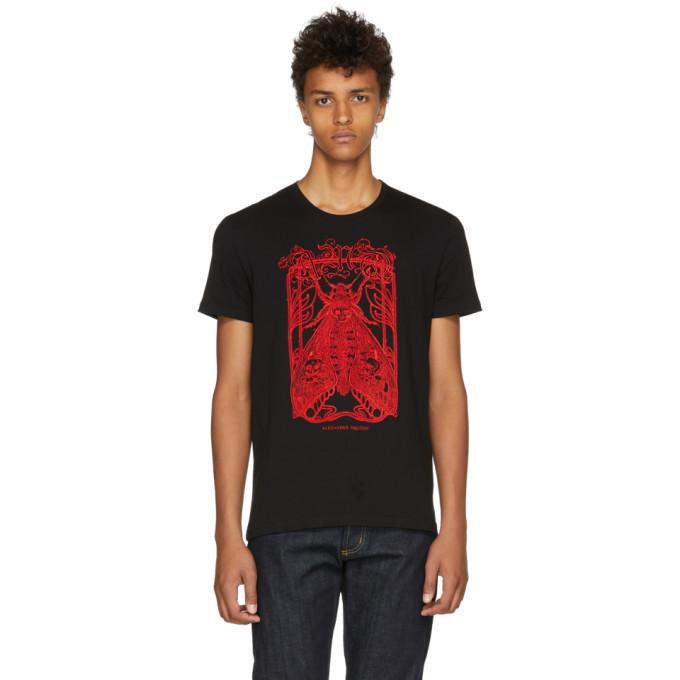 Photo: Alexander McQueen Black Moth Skull T-Shirt