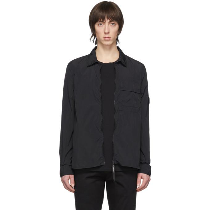 C.P. Company Black Long Sleeve Shirt Jacket