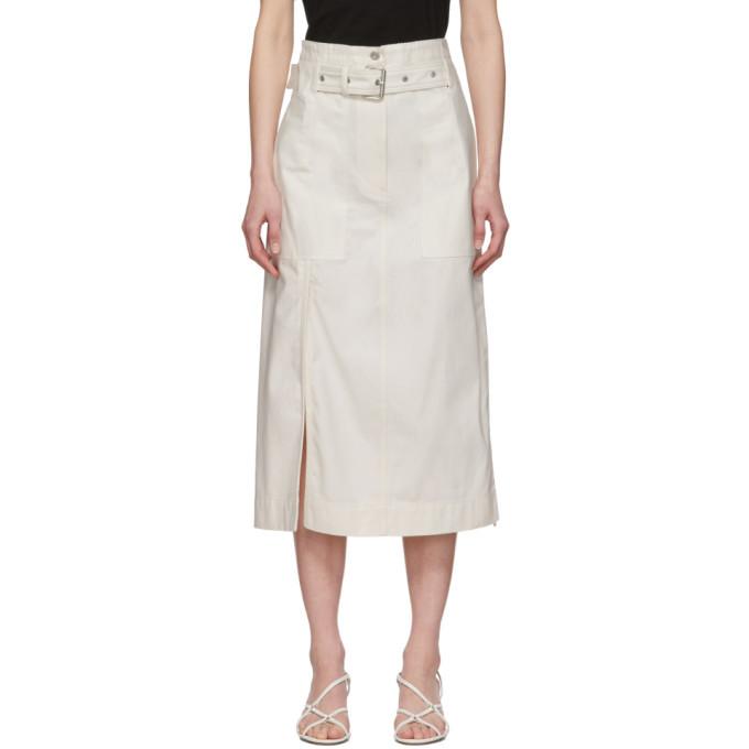 3.1 Phillip Lim White Belted Cargo Skirt