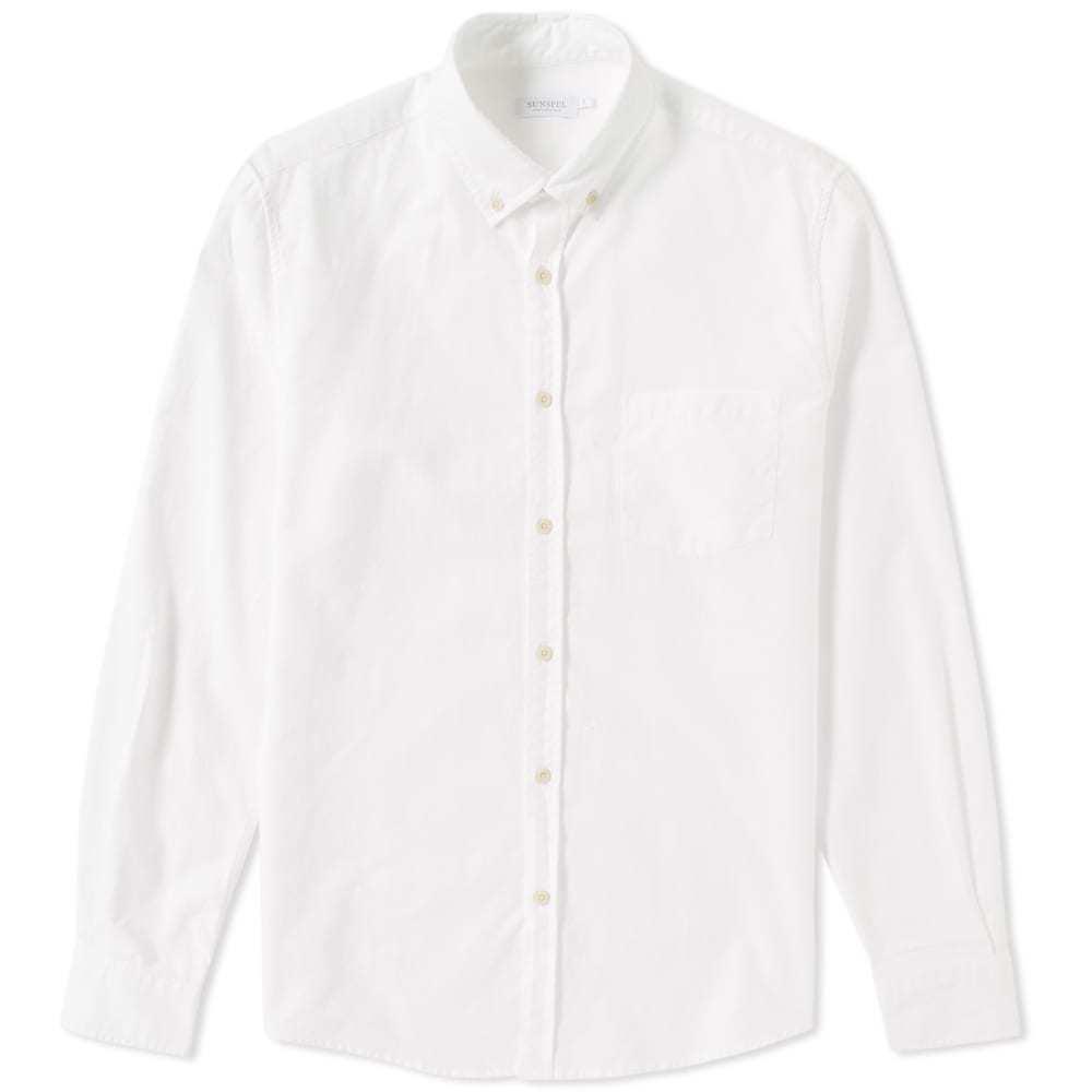 Photo: Sunspel Button Down Oxford Shirt White