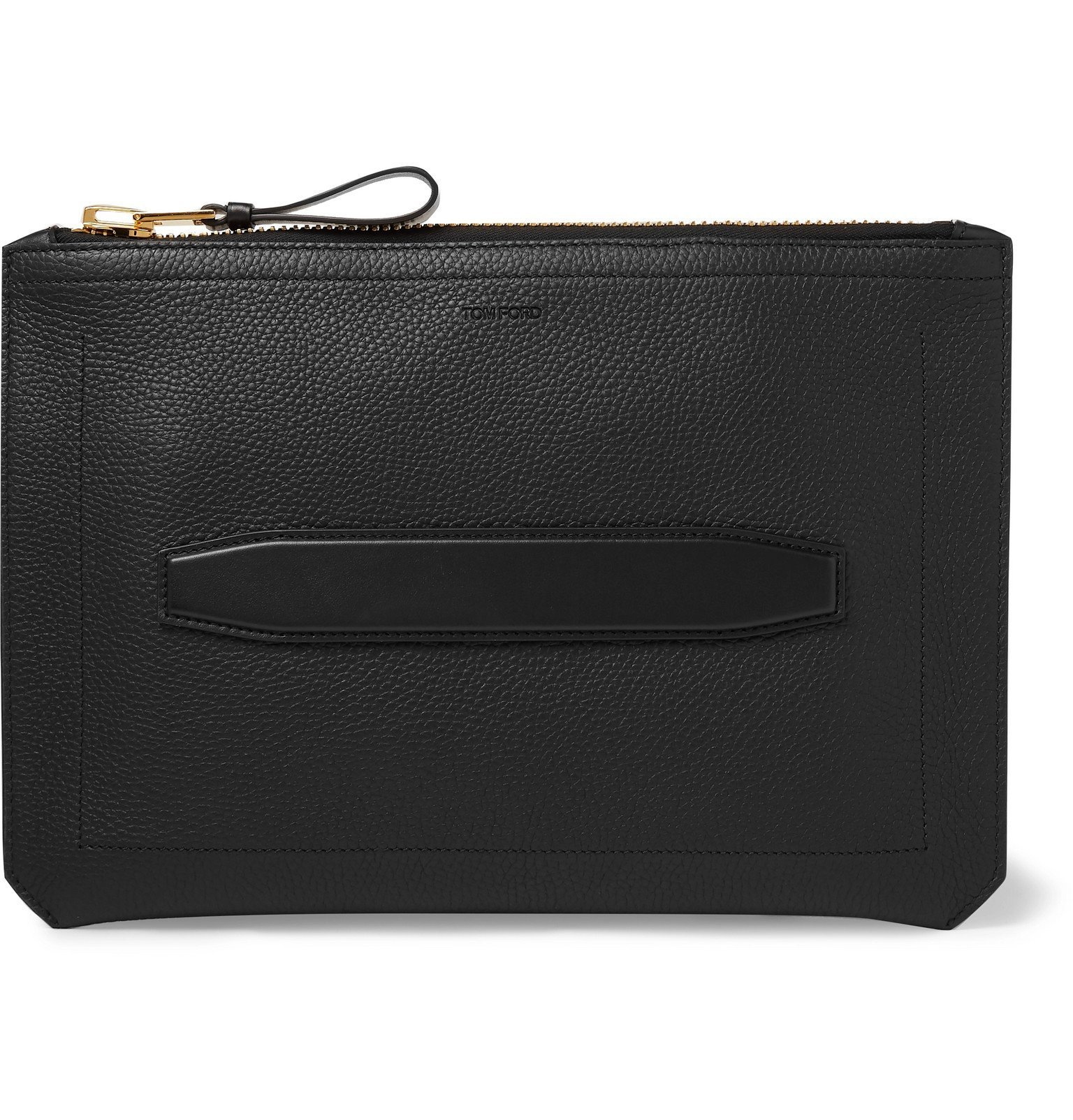 Photo: TOM FORD - Full-Grain Leather Pouch - Black