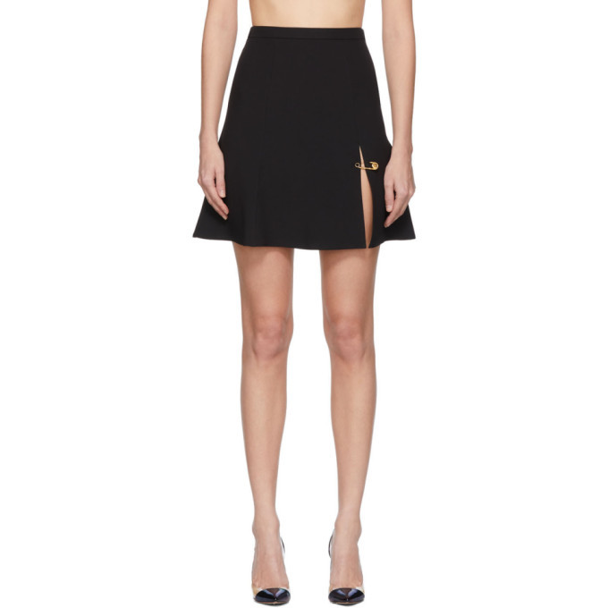 Photo: Versace Black Safety Pin Miniskirt