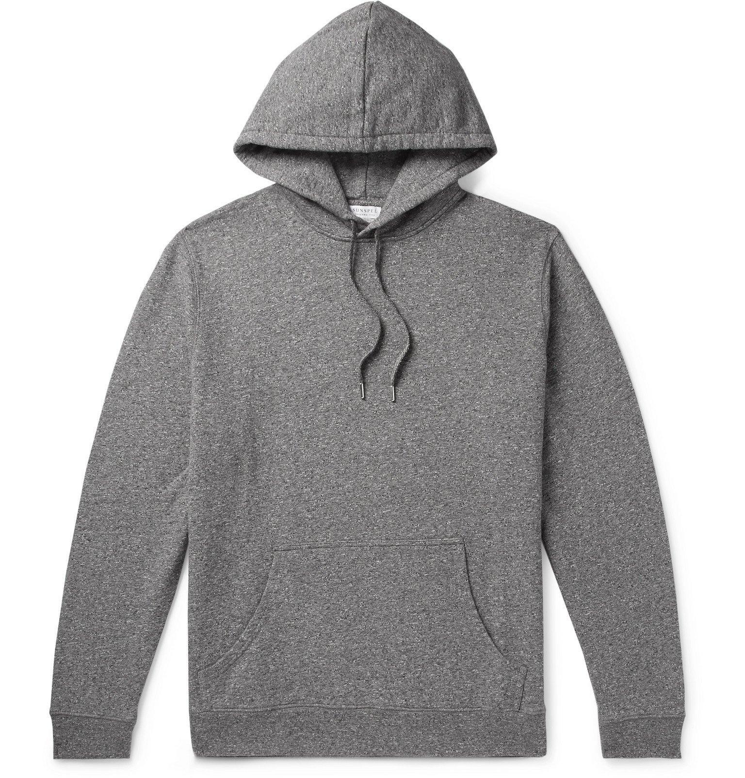 Photo: Sunspel - Mélange Loopback Cotton-Jersey Hoodie - Gray