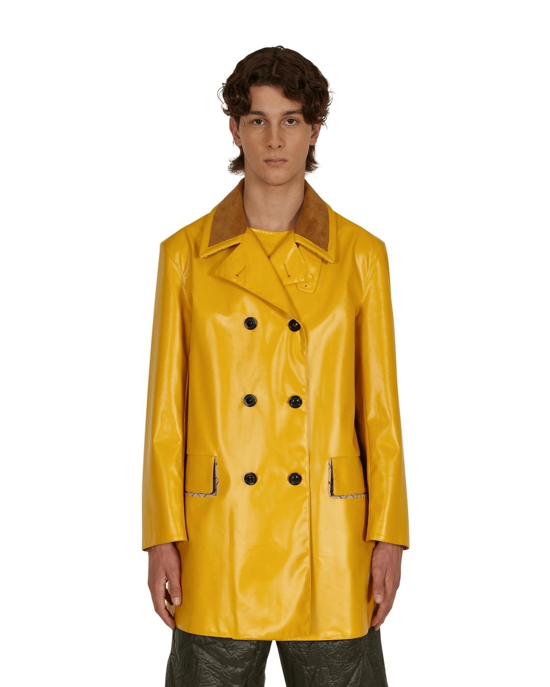 Photo: Maison Margiela Coated Cotton Double Breasted Raincoat Yellow