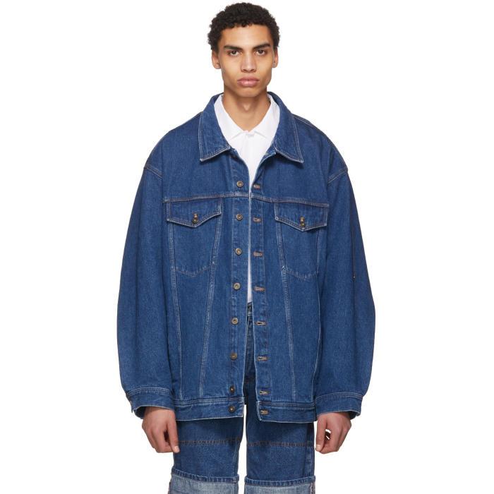 Photo: Y-Project Navy Oversize Denim Jacket