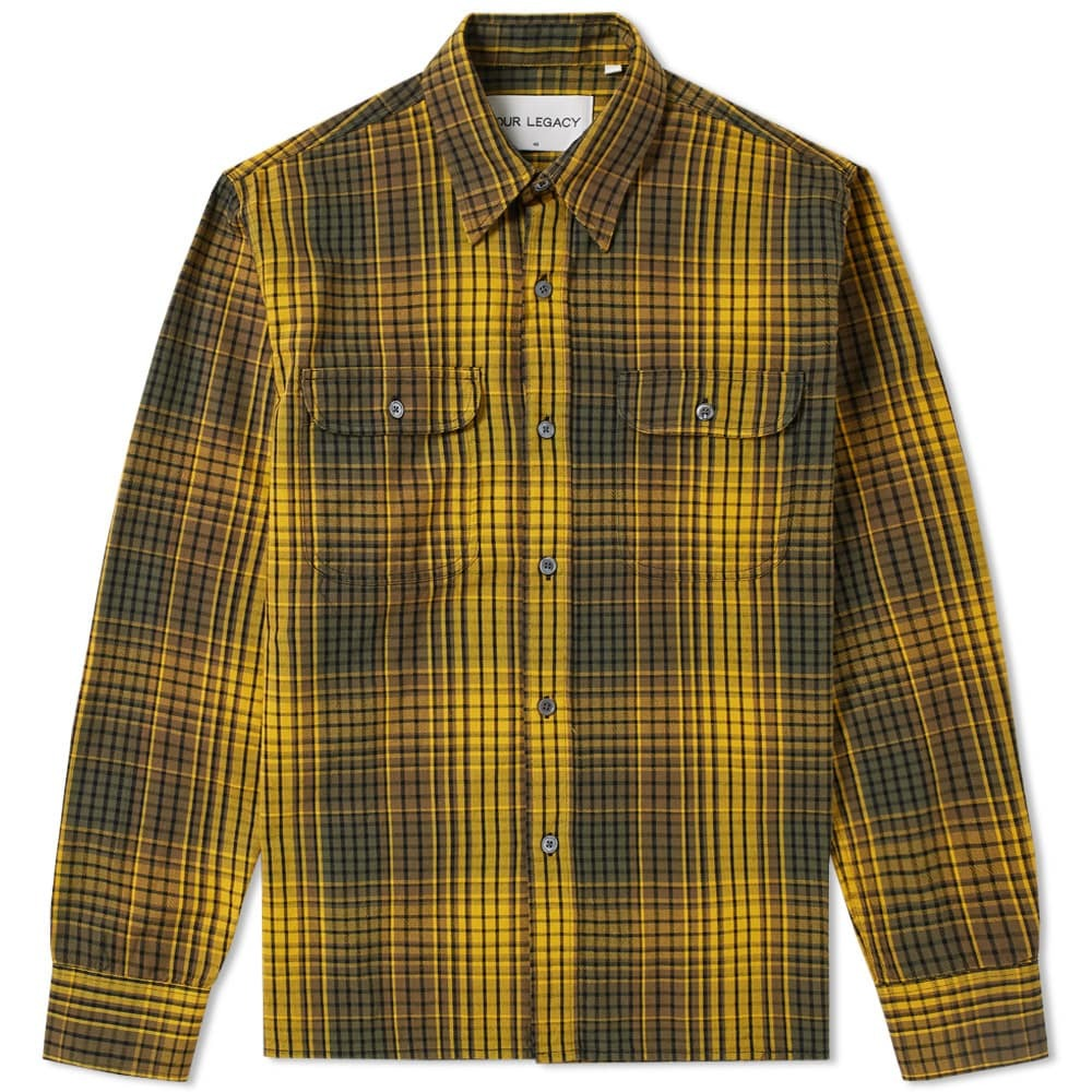 Photo: Our Legacy SPLASH Country Checked Shirt Brown