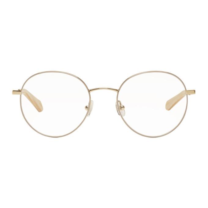 f2715cb10b07 Chloe Gold Palma Oval Glasses Chloe