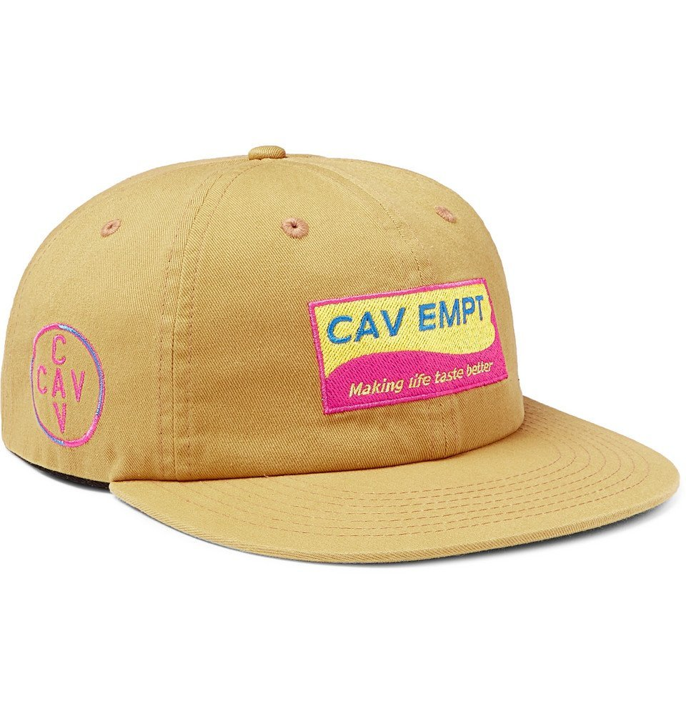 Photo: Cav Empt - Logo-Appliquéd Cotton-Twill Baseball Cap - Yellow