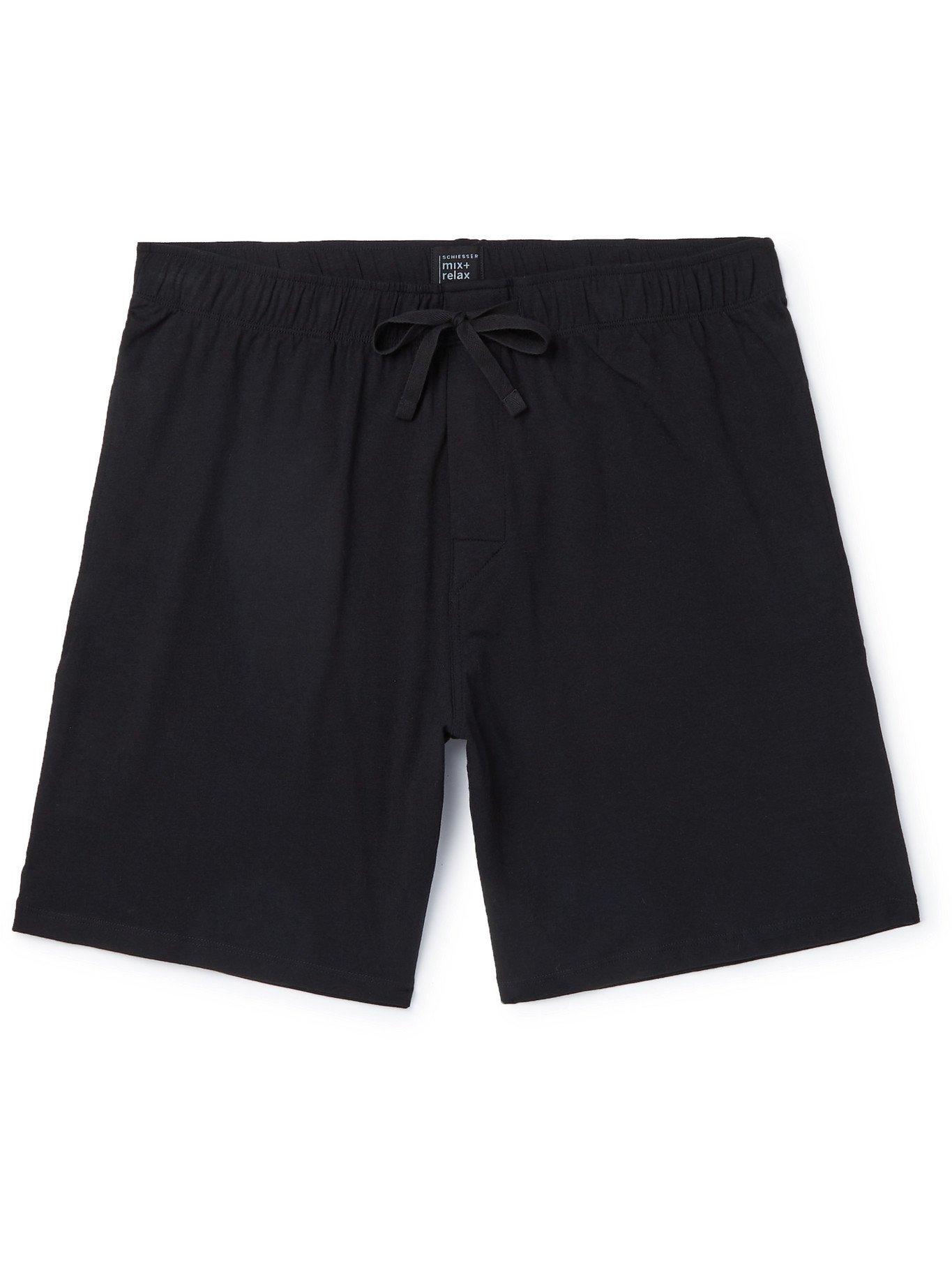 Photo: SCHIESSER - Cotton-Jersey Pyjama Shorts - Black - M