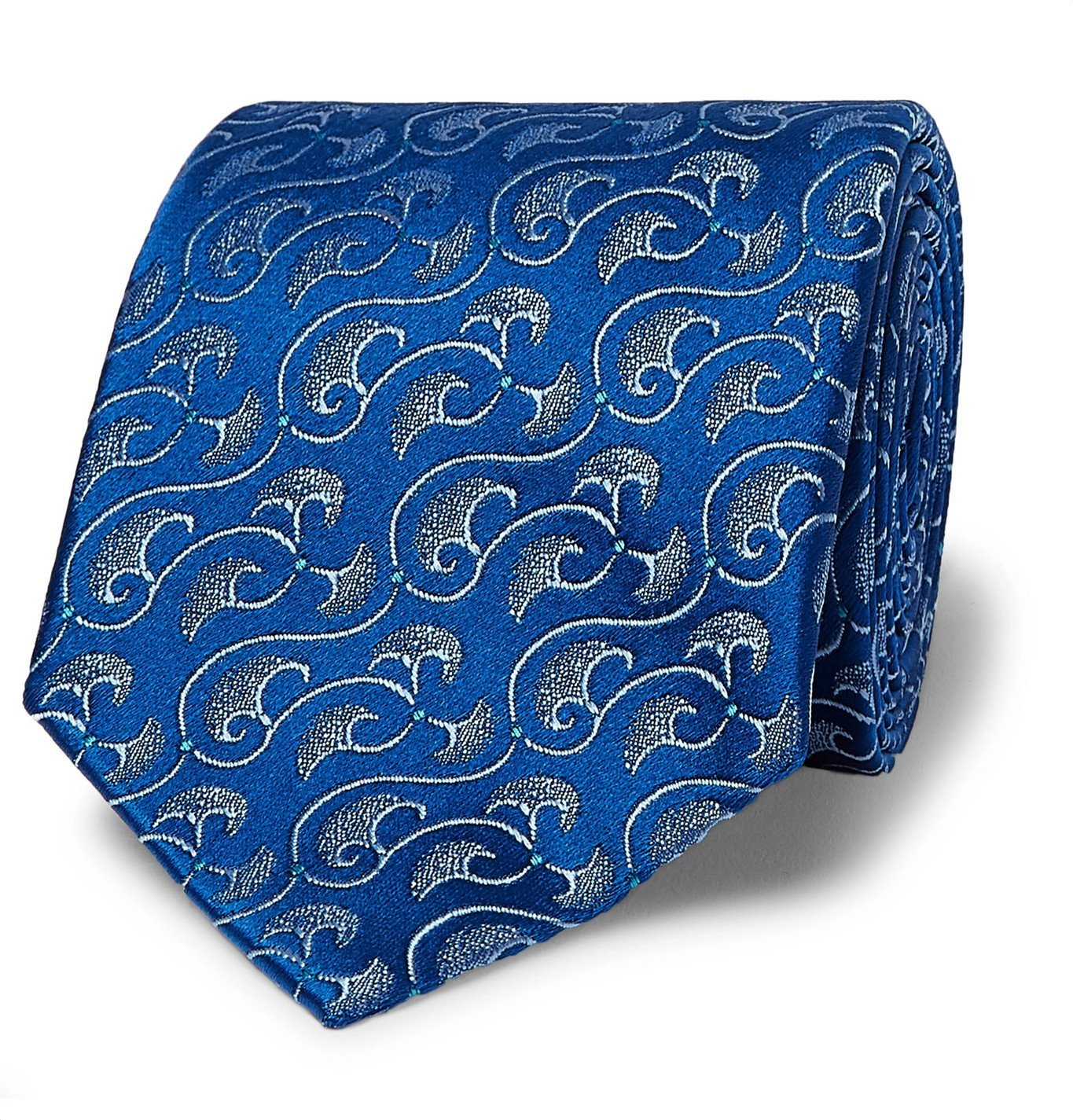 Photo: Charvet - 8.5cm Silk-Jacquard Tie - Blue