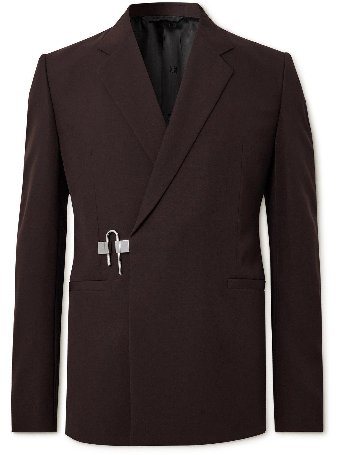 Photo: Givenchy - Slim-Fit Wool Blazer - Brown