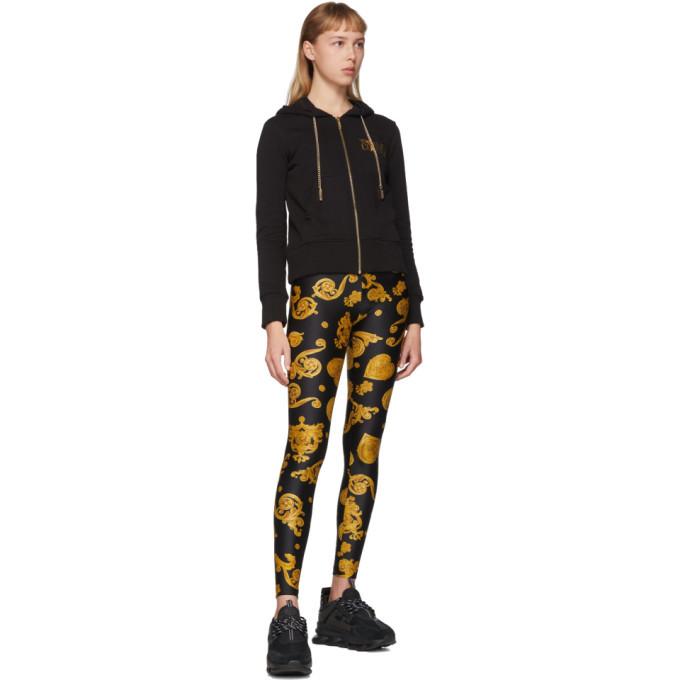 Versace Jeans Couture Black Baroque Jewels Leggings