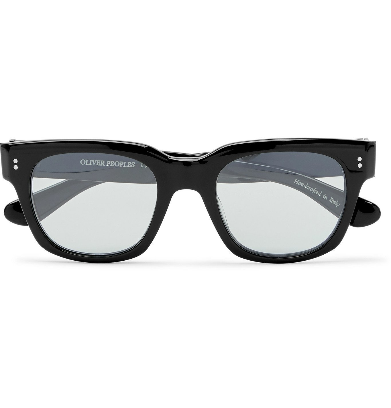 Oliver Peoples - D-Frame Acetate Sunglasses - Black