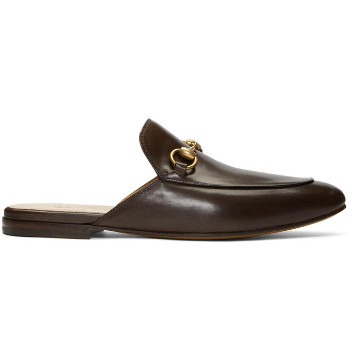 Photo: Gucci Brown Kings Slip-On Loafers